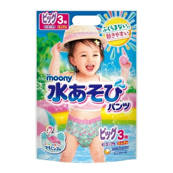 滿意寶寶 日本 MOONY 玩水褲女 XL 24片-箱購