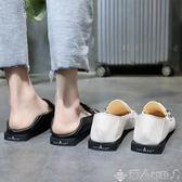 樂福鞋韓版方頭低跟單鞋女新款港風粗跟樂福鞋懶人兩穿小皮鞋女 【多變搭配】