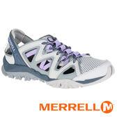 【MERRELL 美國】TETREX CREST WRAP 女水陸三棲鞋『淺灰/淺紫』12850 機能鞋.多功能鞋.休閒鞋