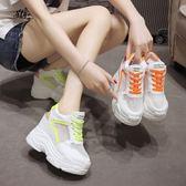 高跟厚底涼鞋 女 松糕洞洞鞋坡跟內增高包頭涼鞋