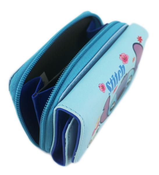 【卡漫城】 史迪奇 三折皮夾 扶桑花 ㊣版 醜丫頭 Stitch 星際寶貝 磁扣式 短夾 卡片 皮夾 短夾