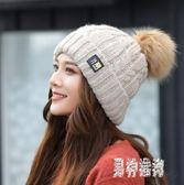 針織月子毛線帽子 女冬甜美可愛保暖帽套頭秋季加絨百搭 BF20215『男神港灣』