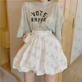 百褶裙 小清新純色半身裙2020新款夏高腰褶皺百搭顯瘦學生A字花苞短裙女