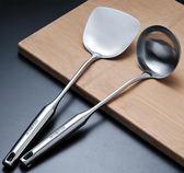 不銹鋼鍋鏟湯勺防燙廚具一體長柄炒菜鏟子加厚炒勺鐵菜鏟igo