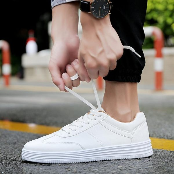 男鞋新款韓版潮流白色板鞋百搭運動休閒鞋小白鞋潮鞋 黛尼時尚精品