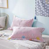 枕頭套夏季純棉枕套枕頭套一對裝100%全棉斜紋大號成人48*74單人 潮人女鞋
