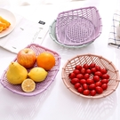 水果籃 塑料鏤空水果盤零食盤子多功能水果籃家用客廳茶幾簡約糖果水果盆【快速出貨八折鉅惠】