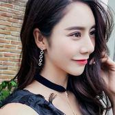 韓國氣質長款吊墜耳環顯臉瘦百搭個性耳墜