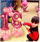 寶寶周歲兒童生日派對數字立柱氣球裝飾...