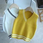 兒童針織背心 2020秋裝童裝寶寶針織背心男女童毛衣馬甲嬰兒春秋馬甲上衣868 小宅女