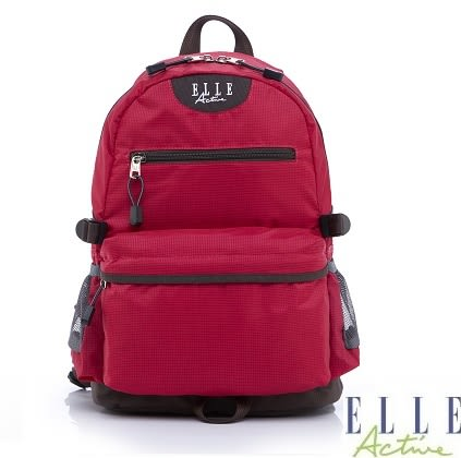Backbager 背包族 【ELLE Active】-格紋系列-後背包(桃紅色)-中
