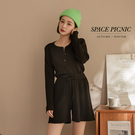 兩件式 套裝 Space Picnic 兩件式-排釦上衣+短褲-3色(預購)【C21073058】