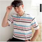 【大盤大】(P15671) 男 春夏 有領POLO衫 條紋口袋 高爾夫 運動休閒棉衫 短袖 送禮好康【剩M號】