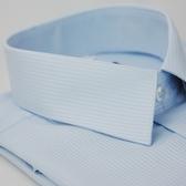 【金‧安德森】水藍色吸排窄版短袖襯衫