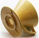 金時代書香咖啡 KADOU 咖堂星芒濾杯「極」M1陶瓷濾杯 黃色 KADOU-M1-YL