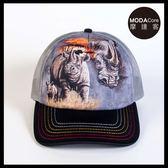【摩達客】(預購)美國進口The Mountain 夕陽犀牛   藝術棒球帽網帽/5-Panel新五分割帽