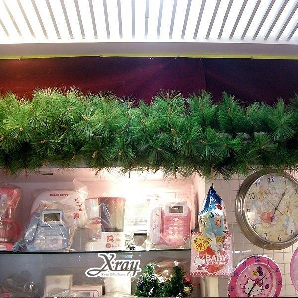 節慶王【X030012】9呎松針藤(綠),空樹藤/聖誕樹/聖誕藤/聖誕佈置/門面設計