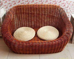 藤柳編沙發雙人