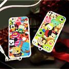 【紅荳屋】iPhone6、 6plus壓克力軟膠殼帶掛繩卡通集合手機殼