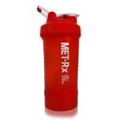 MET-Rx 美瑞克斯 健身運動專用搖搖杯 附鋼球 450ml (紅)