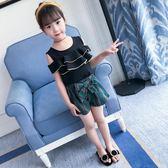 套裝韓版洋氣兒童裝夏季時尚大童時髦兩件套