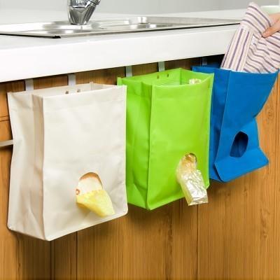 【櫥櫃門背式抽取垃圾袋收納袋 LA194】NO135【八八八】e網購