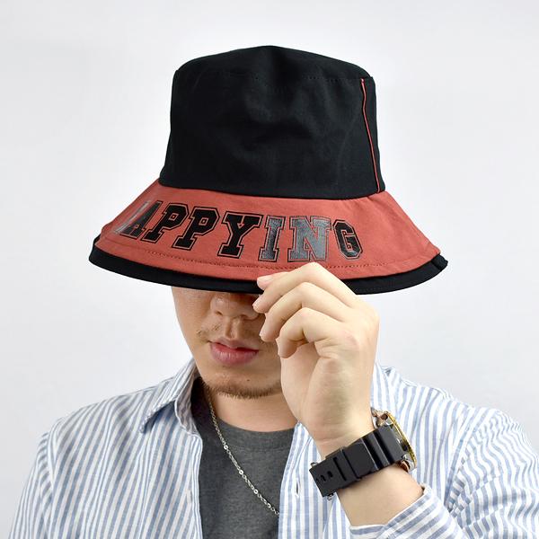 漁夫帽 HAPPYING帽沿膠印NHD43