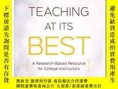 二手書博民逛書店Teaching罕見at Its Best: A Research-Based Resource for Coll