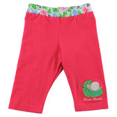 【愛的世界】彈性緊身七分褲-紅/4~8歲-台灣製- ★春夏下著