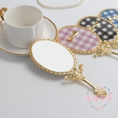 手柄化妝鏡復古 隨身手持鏡創意 可折疊便攜梳妝鏡 送女生小禮品