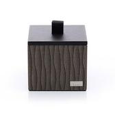 桌上用品含蓋收納小方盒-棉花罐-(KENZO東方咖啡色系)