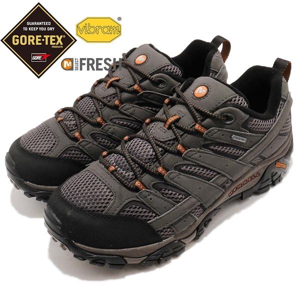 Merrell 戶外鞋 Moab 2 GTX Wide 灰 黑 寬楦頭 Gore-Tex 防水 透氣 越野 休閒鞋 運動鞋 男鞋【ACS】 ML06039W