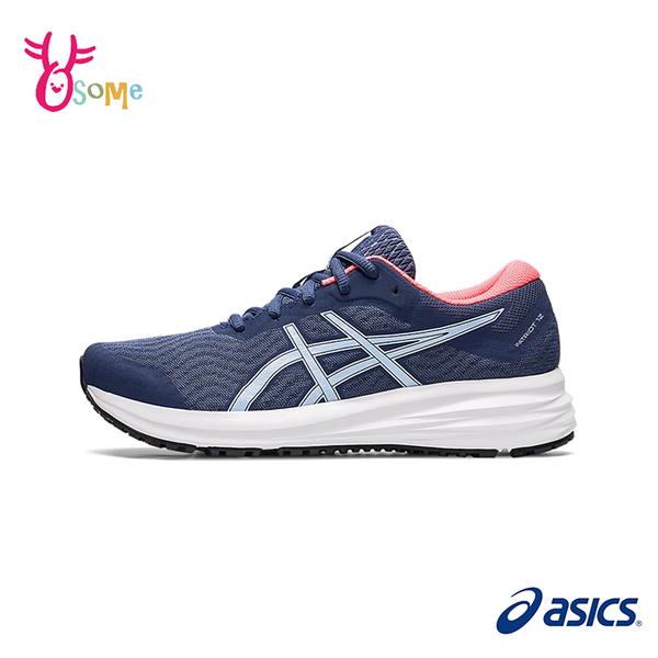 ASICS慢跑鞋 女鞋 PATRIOT 12 跑步鞋 輕量運動鞋 入門款 慢跑鞋 亞瑟士 C9190#藍橘◆奧森