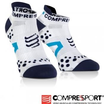 【線上體育】COMPRESPPORT  CS-V2.1 RUN 踝襪 白/藍 T2