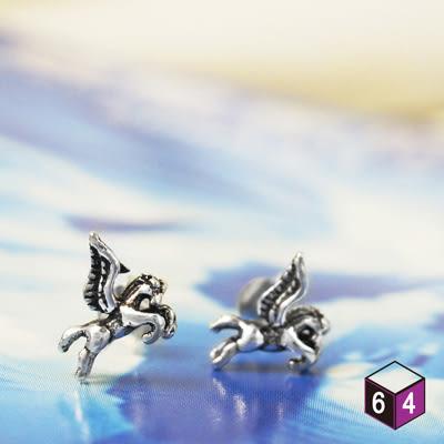 耳環 飛馬 Pegasus 925純銀馬造形耳環 動物耳環