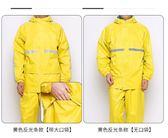 雨衣 雨衣雨褲套裝分體成人騎行電瓶車摩托車外賣廣告防水雨衣 綠光森林