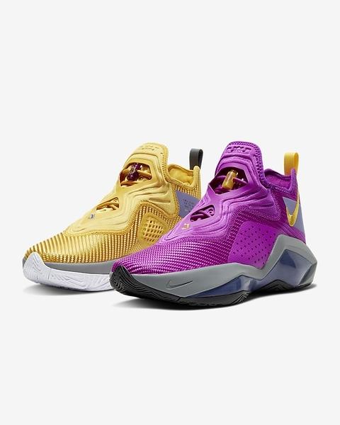 Nike Lebron Soldier Xiv Ep 男款黃x紫撞色包覆緩震籃球鞋-NO.CK6047500