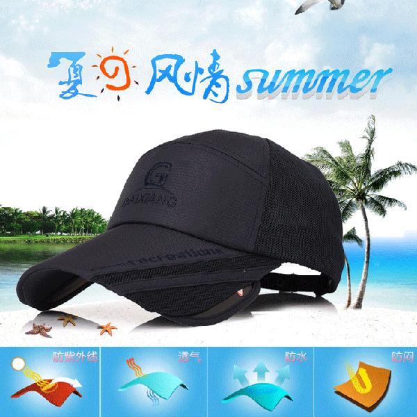 【6012】防曬透氣可伸縮加長遮陽帽 棒球帽 男女皆可(4色可選/可調節)