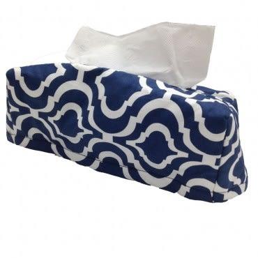 藍色幾何面紙盒套.(10/16)