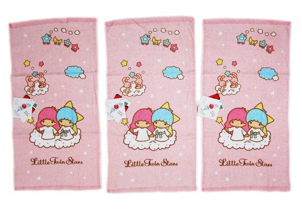 【卡漫城】 雙子星 小毛巾 三條一組 雲 火車 ㊣版 Kikilala 童巾 純棉 台灣製 Twin Stars 毛巾