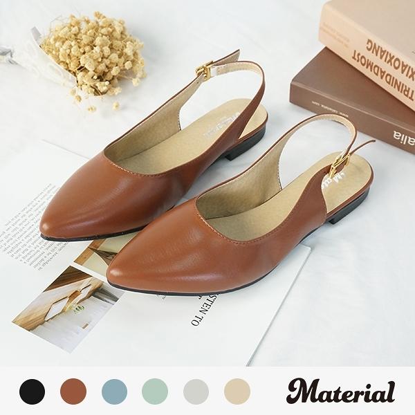 包鞋 氣質後空尖頭包鞋 MA女鞋 T52824
