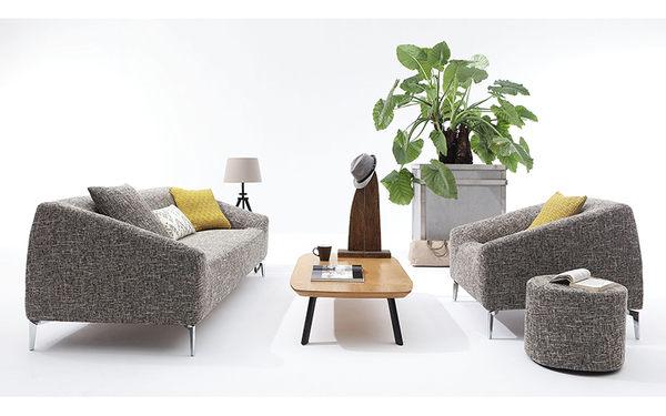 【森可家居】杰曼單人位沙發 7JX135-2 一人座 單人休閒椅 北歐風 布套可拆洗
