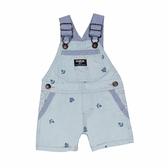 OSHKOSH 吊帶短褲 綠船勾 | 男寶寶吊帶褲(嬰幼兒/小孩/baby)