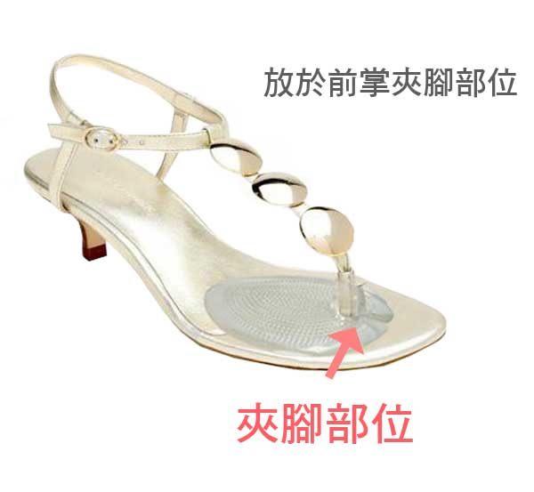 Qmishop 矽膠高跟鞋前掌墊涼鞋半墊人字拖夾腳鞋墊腳趾分離墊【QS11】