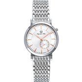 Olympia Star 奧林比亞之星 經典都會系列英倫休閒針時尚腕錶-好感紅/26mm