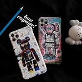 潮牌kaws油畫風 手機殼 手機保護殼 適用蘋果 IPHONE11/12/7/8Plus/XR/X/XS