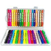 24色36色炫彩棒可水洗水溶性油畫棒兒童旋轉蠟筆
