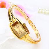 女錶 金色女學生手鍊手錶女士韓版女表防水石英表 生日禮物
