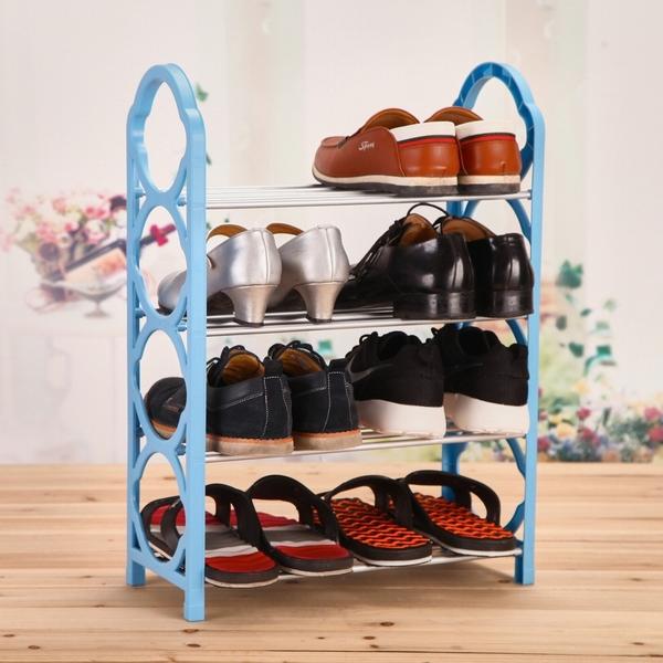 歐文購物 居家收納 台灣現貨 組合鞋架 四層簡易鞋架 組裝置物架 創意鞋架