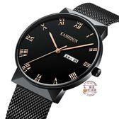 手錶男學生男士手錶運動石英錶防水時尚潮流絲帶男錶韓腕錶·樂享生活館